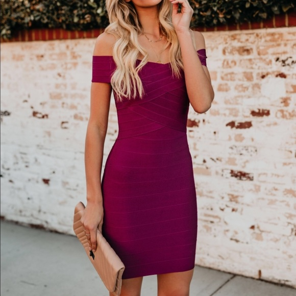 b37faeace2bcd FEELING FABULOUS BANDAGE BODYCON DRESS - WINE. NWT. Vici